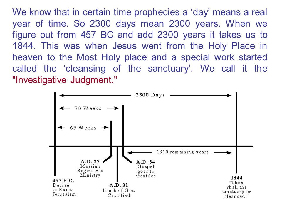 We know that in certain time prophecies a 'day' means a real year of time.