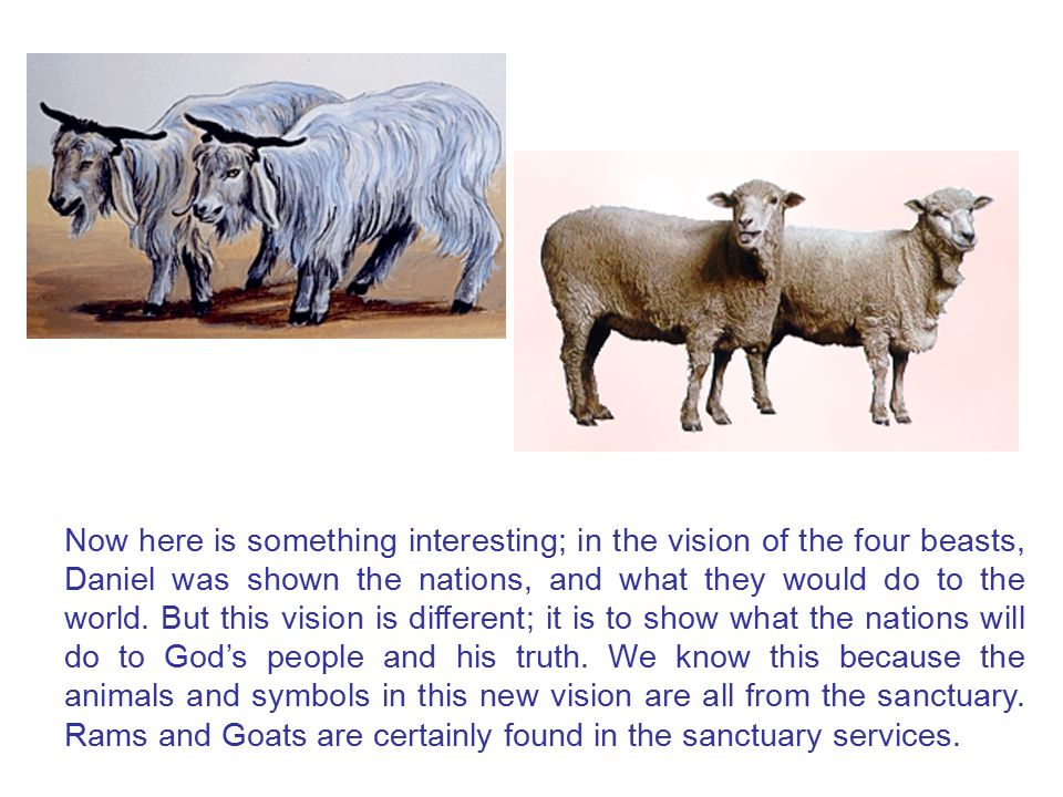 Now here is something interesting; in the vision of the four beasts, Daniel was shown the nations, and what they would do to the world.