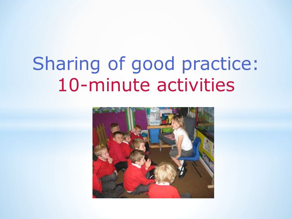 Sharing of good practice: