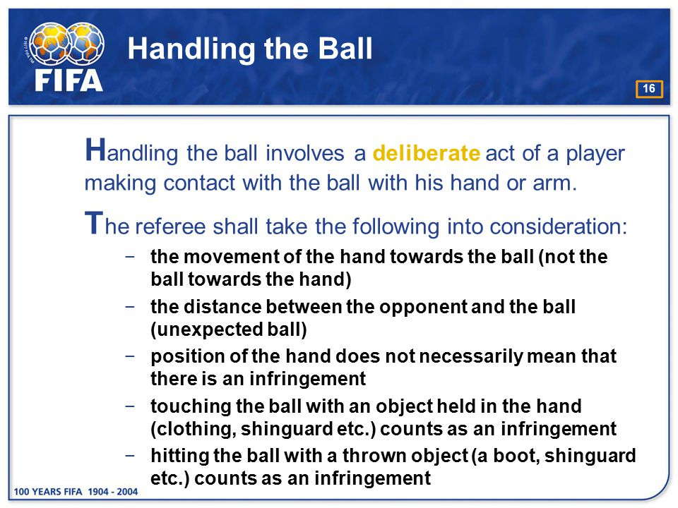 The referee shall take the following into consideration: