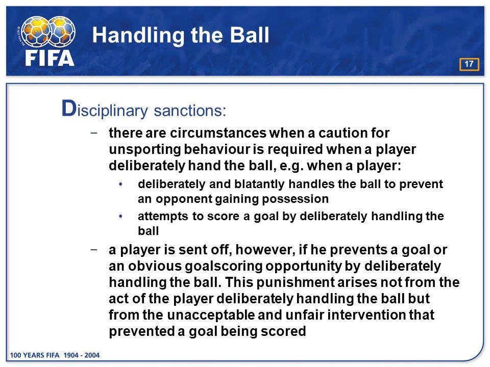 Disciplinary sanctions: