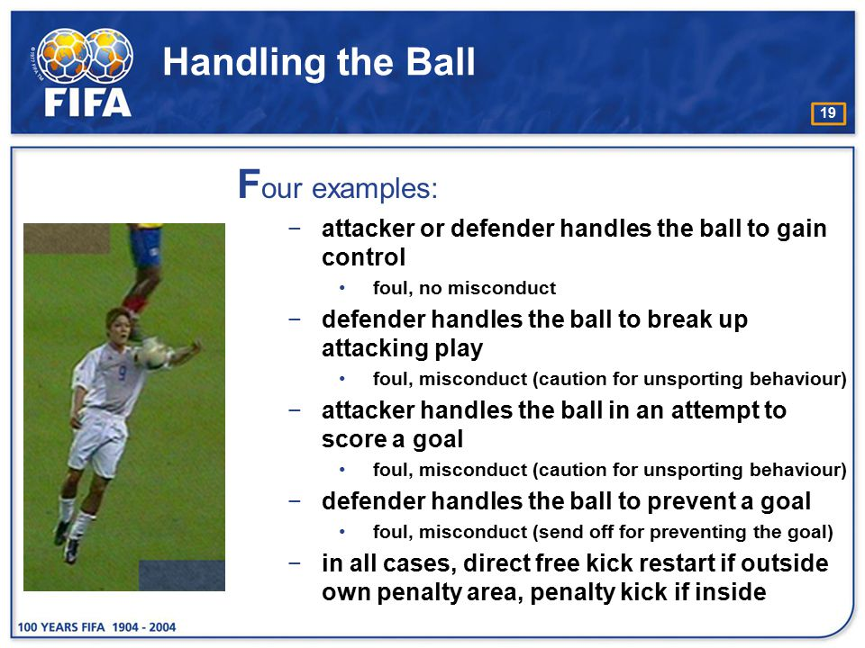Four examples: Handling the Ball