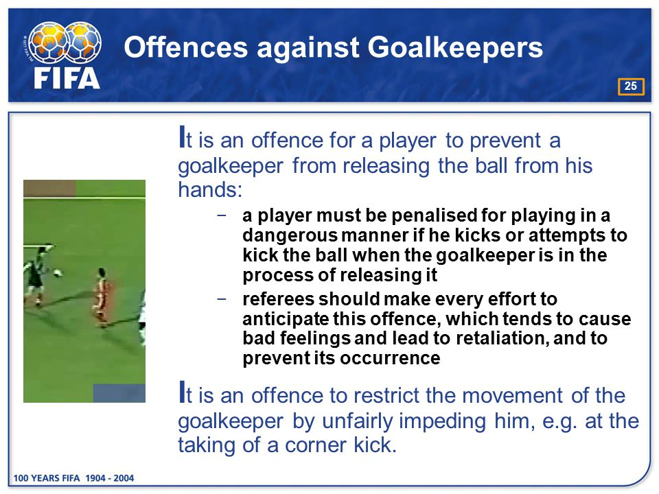 Offences against Goalkeepers