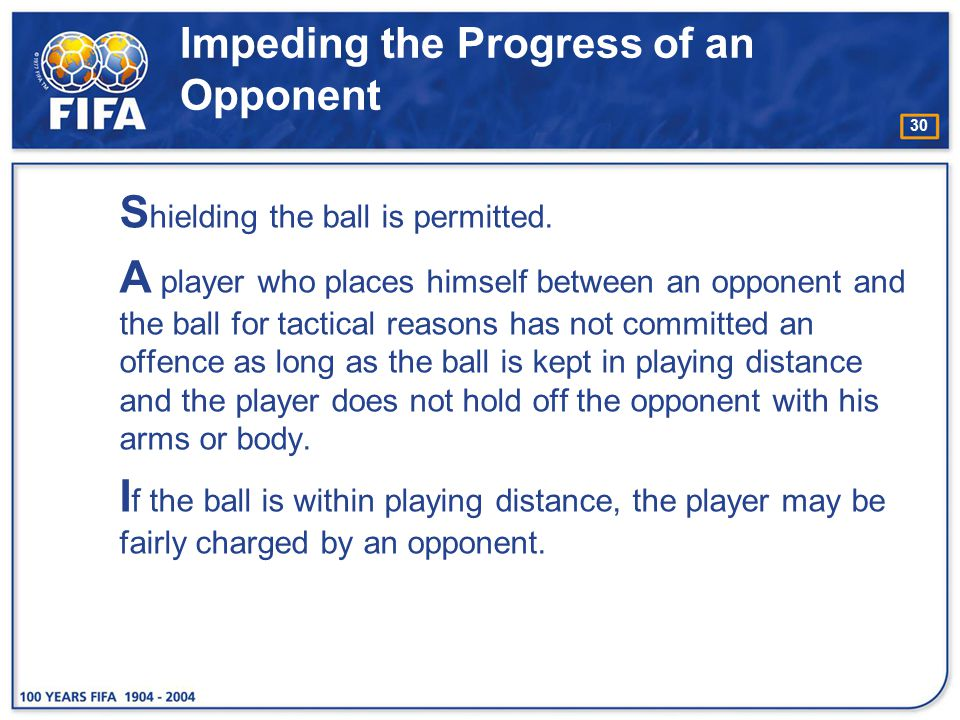 Impeding the Progress of an Opponent