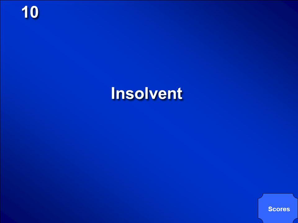 10 Insolvent Scores