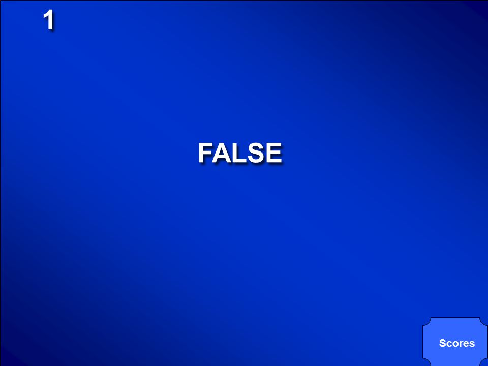 1 FALSE Scores