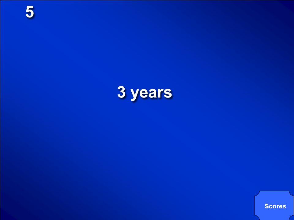 5 3 years Scores