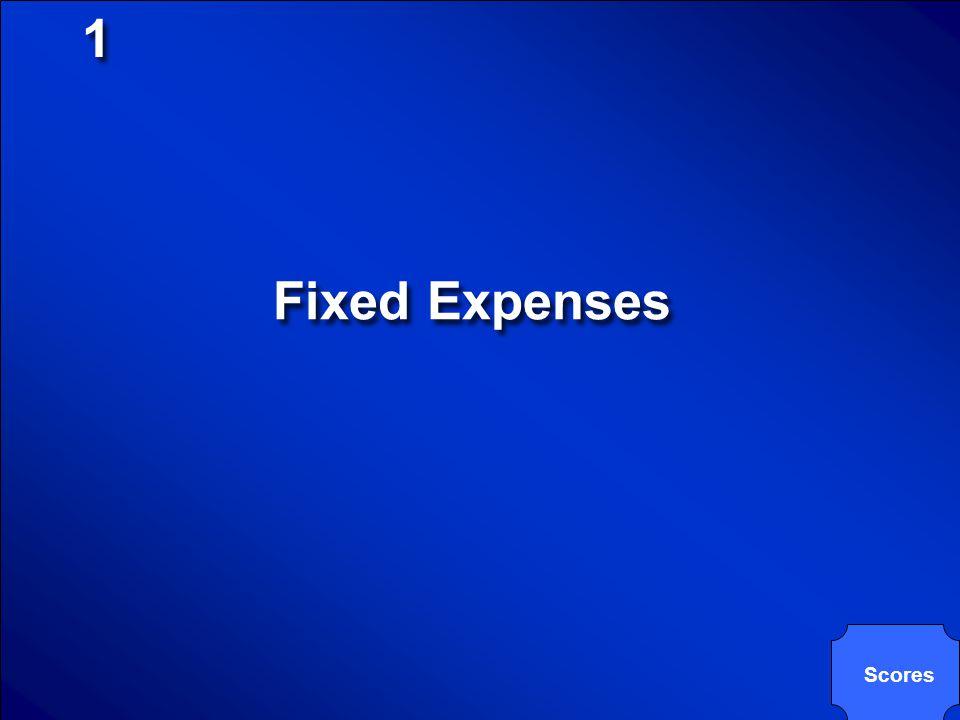 1 Fixed Expenses Scores