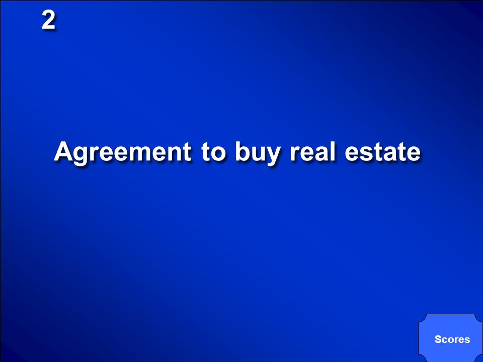 Agreement to buy real estate