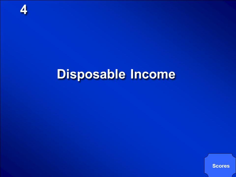 4 Disposable Income Scores