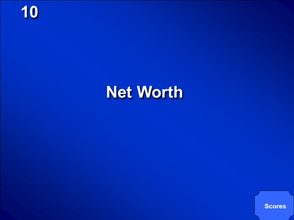 10 Net Worth Scores