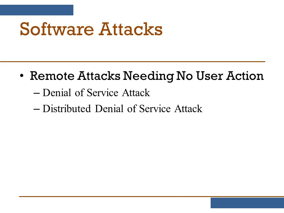 Software Attacks Remote Attacks Needing No User Action