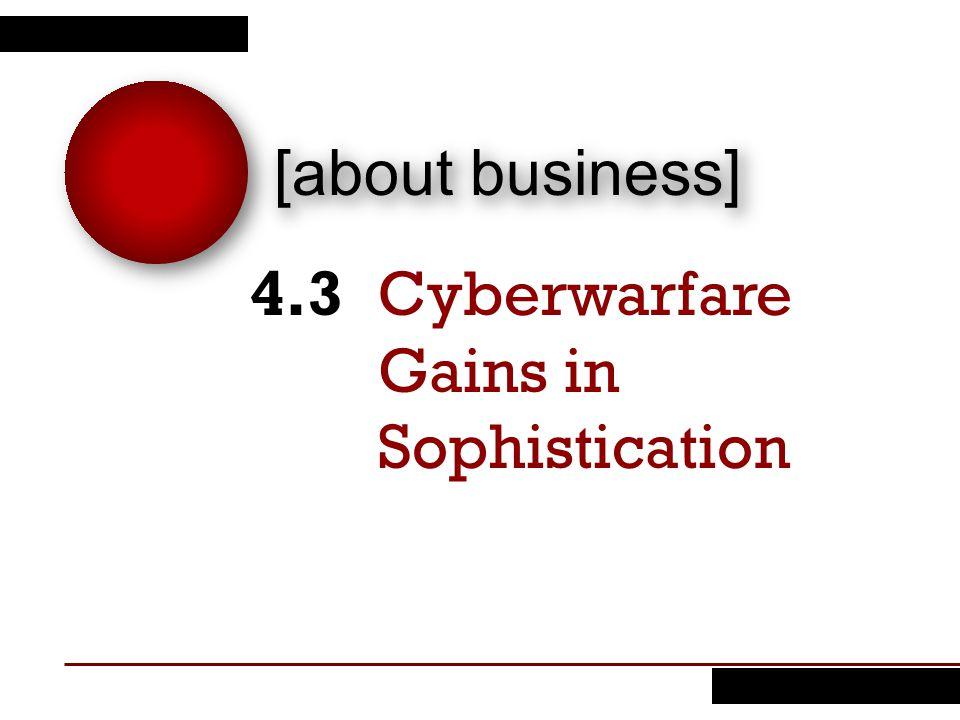 Cyberwarfare Gains in Sophistication