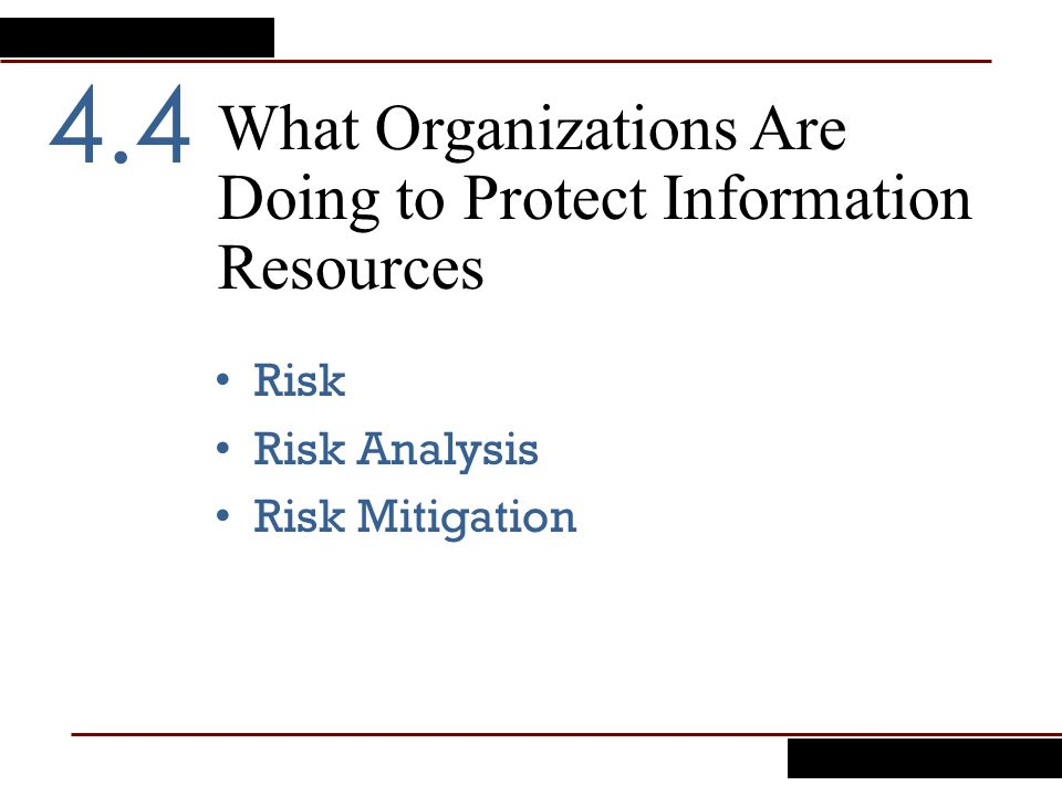 What Organizations Are Doing to Protect Information Resources