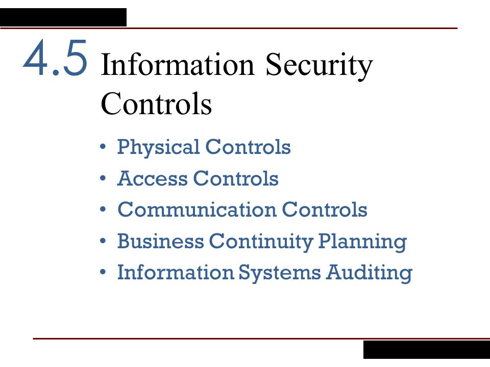 Information Security Controls