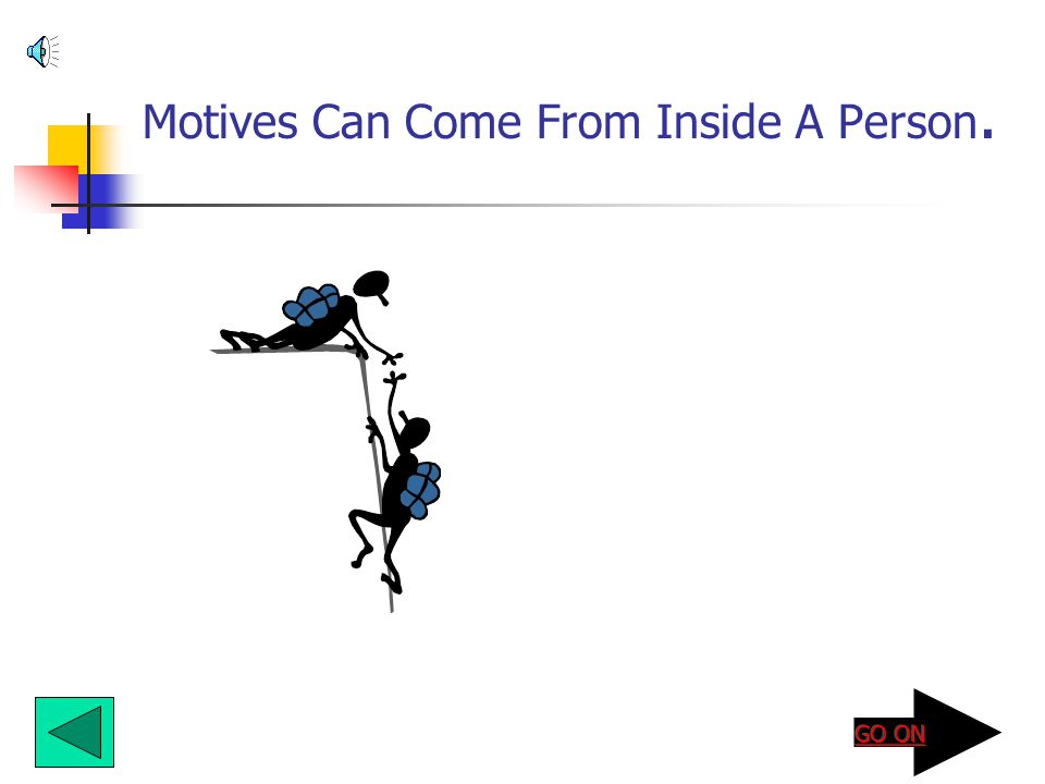 Motives Can Come From Inside A Person.