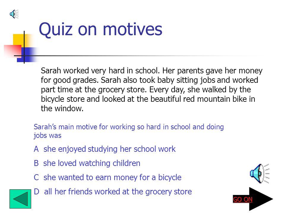 Quiz on motives