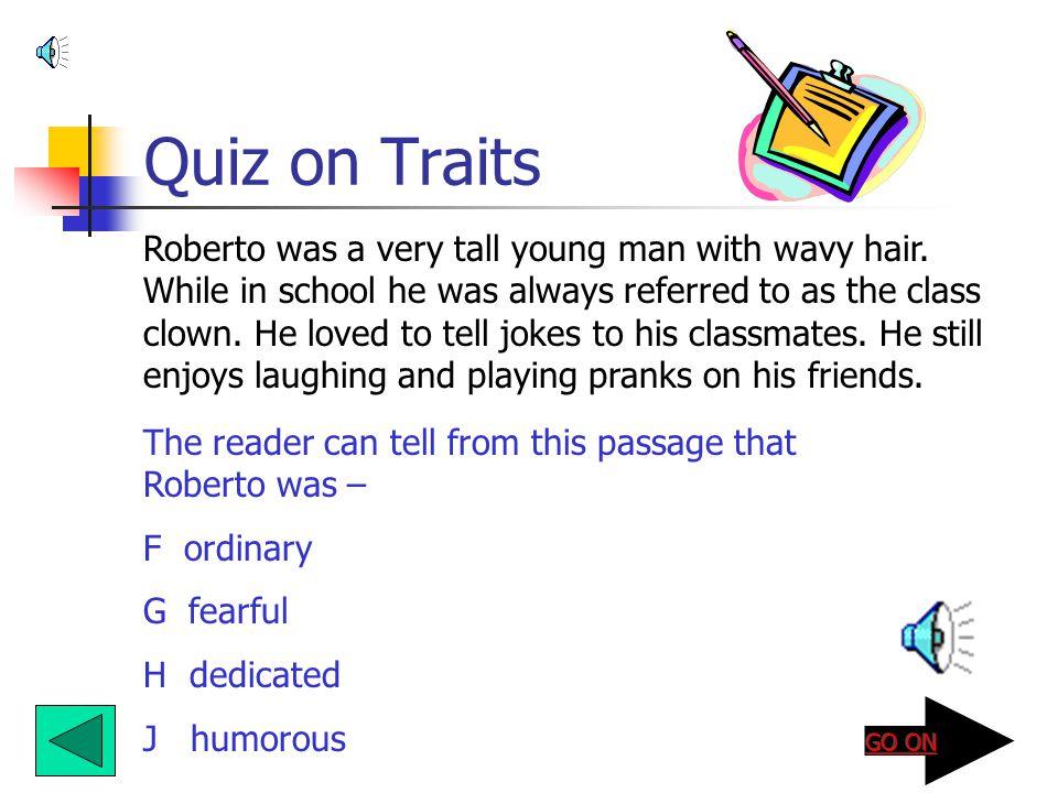 Quiz on Traits