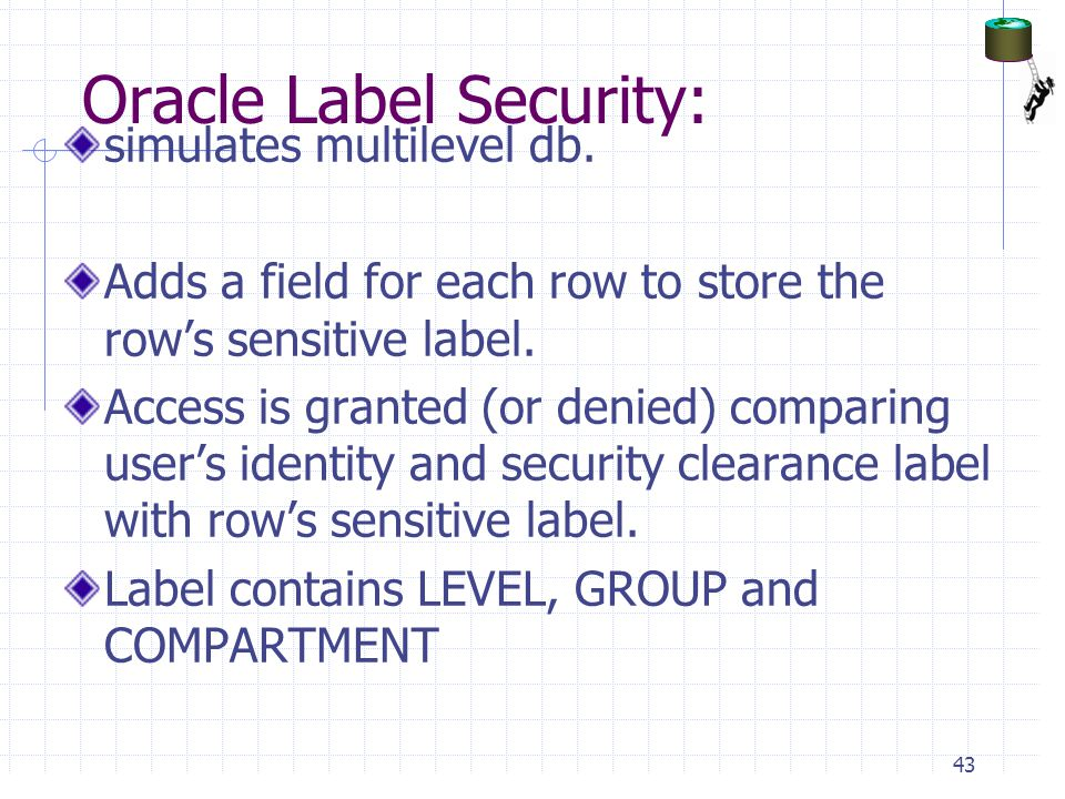 Oracle Label Security:
