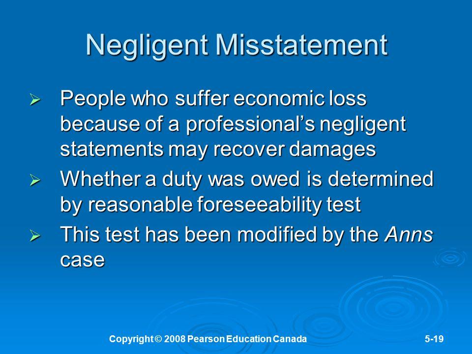 Negligent Misstatement