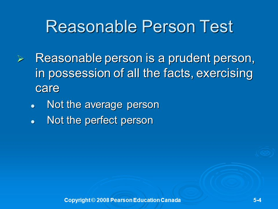 Reasonable Person Test