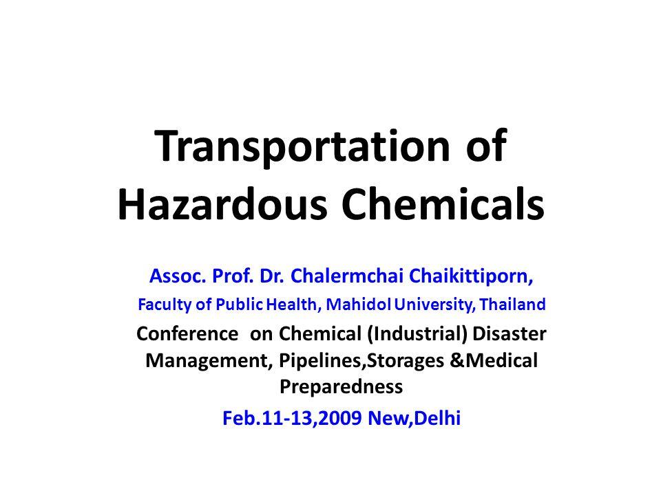 Transportation of Hazardous Chemicals