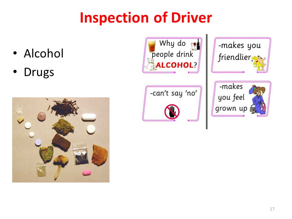 Inspection of Driver Alcohol Drugs