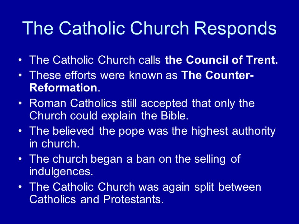 The Catholic Church Responds