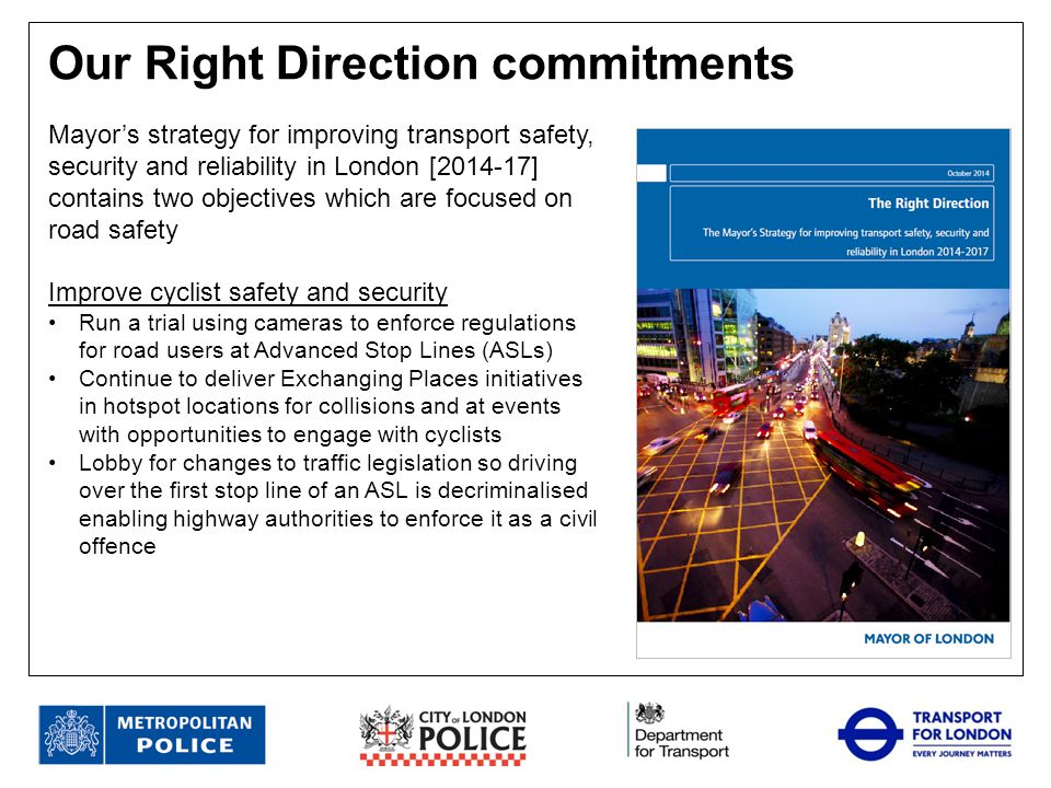 Our Right Direction commitments