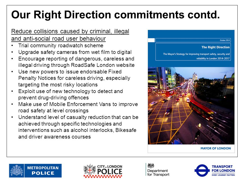 Our Right Direction commitments contd.