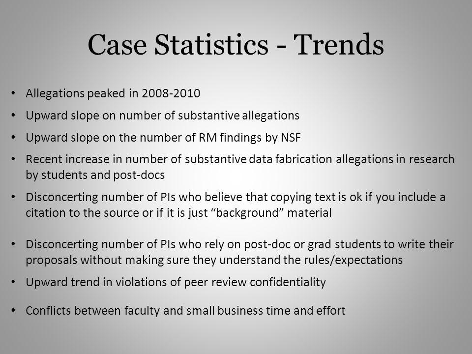 Case Statistics - Trends