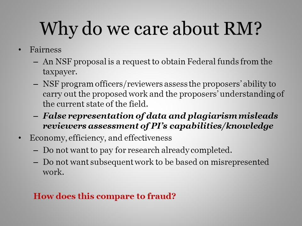 Why do we care about RM Fairness