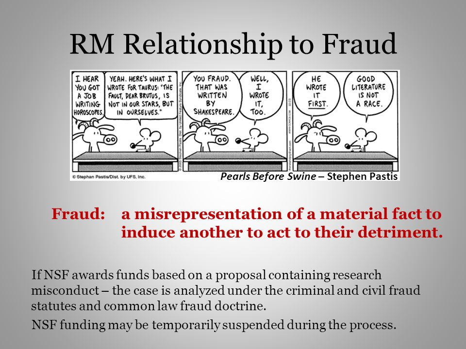 RM Relationship to Fraud