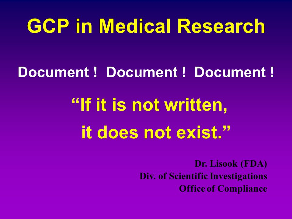 GCP in Medical Research