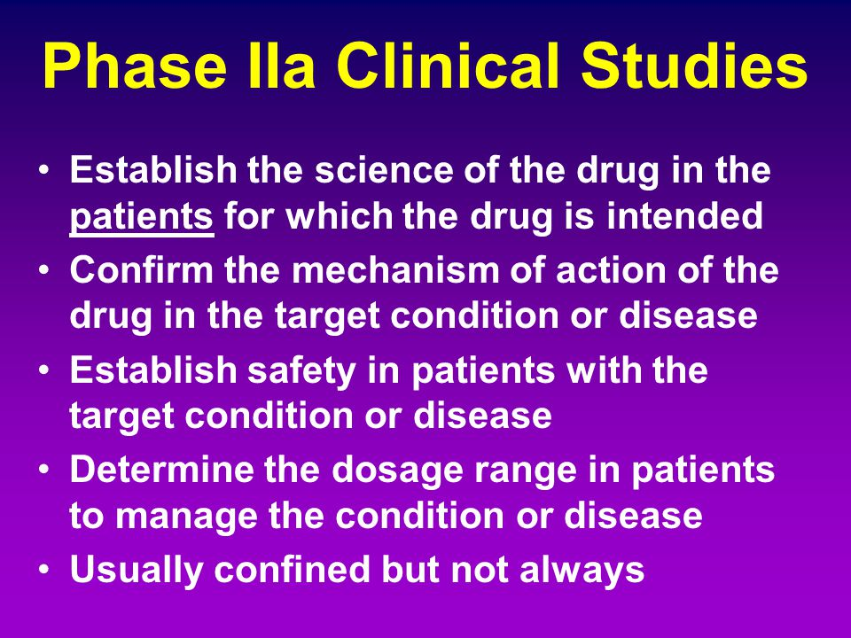 Phase IIa Clinical Studies