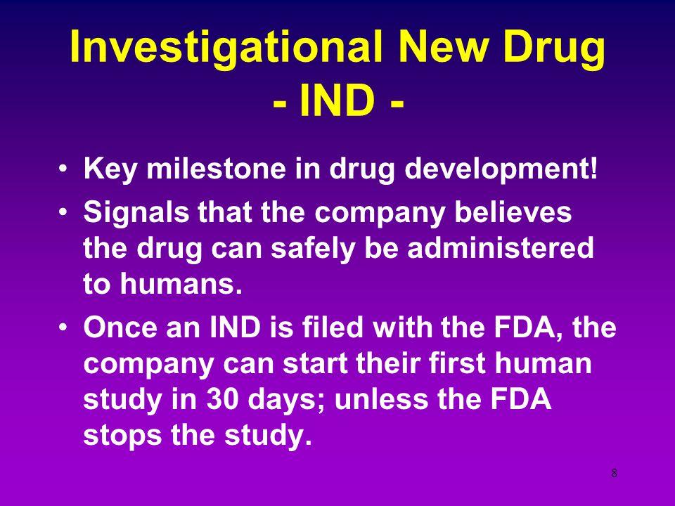 Investigational New Drug - IND -