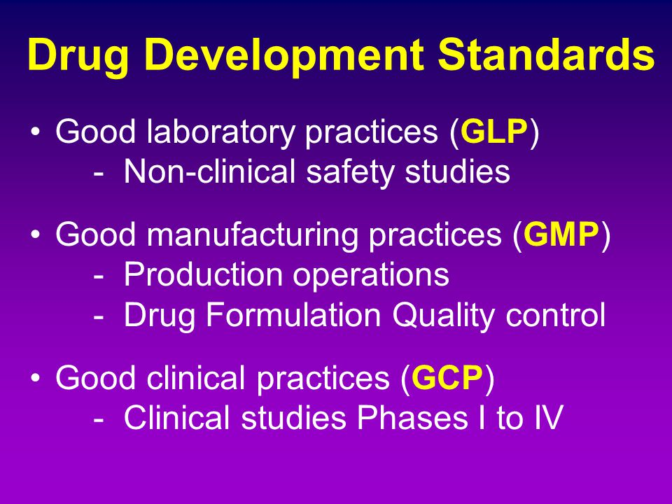 Drug Development Standards