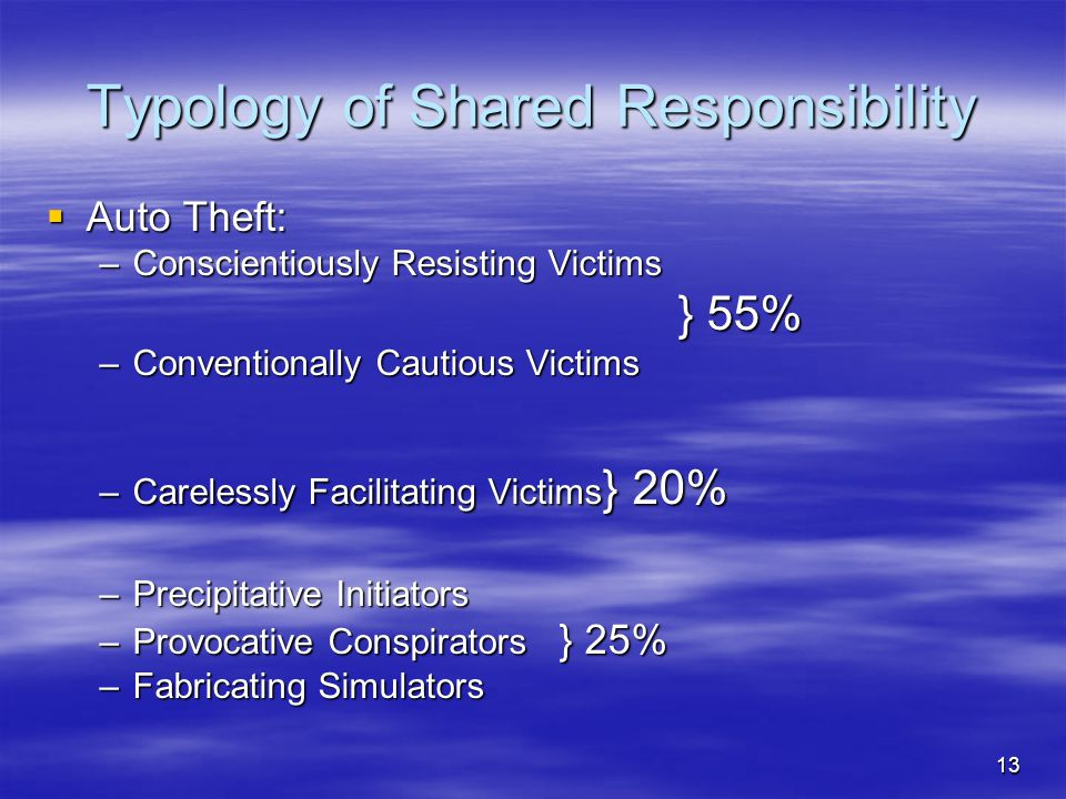Typology of Shared Responsibility
