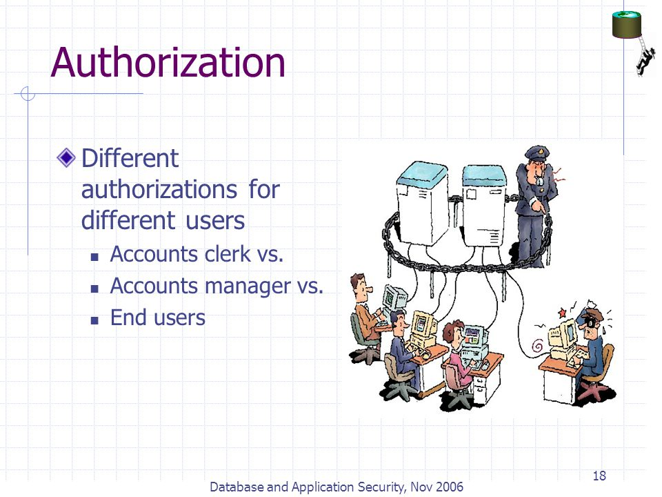 Database and Application Security, Nov 2006