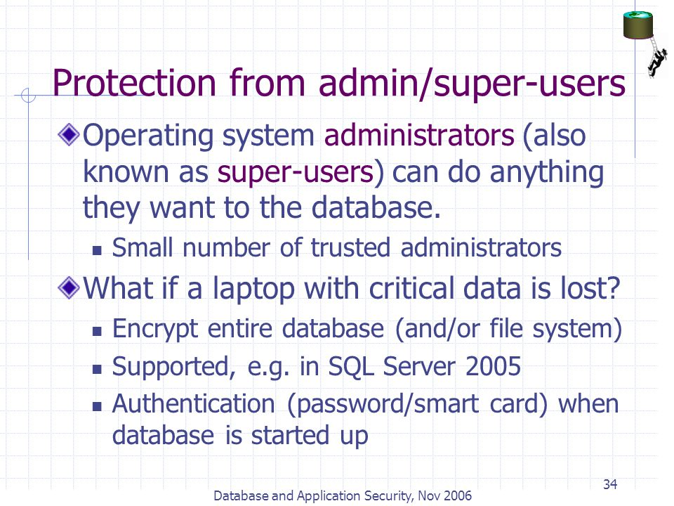 Protection from admin/super-users