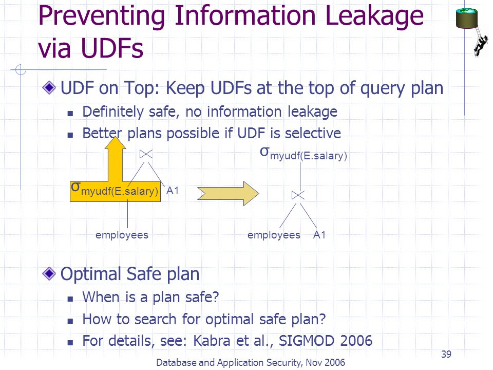 Preventing Information Leakage via UDFs