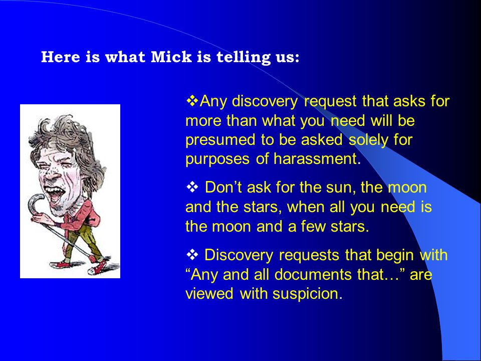 Here is what Mick is telling us: