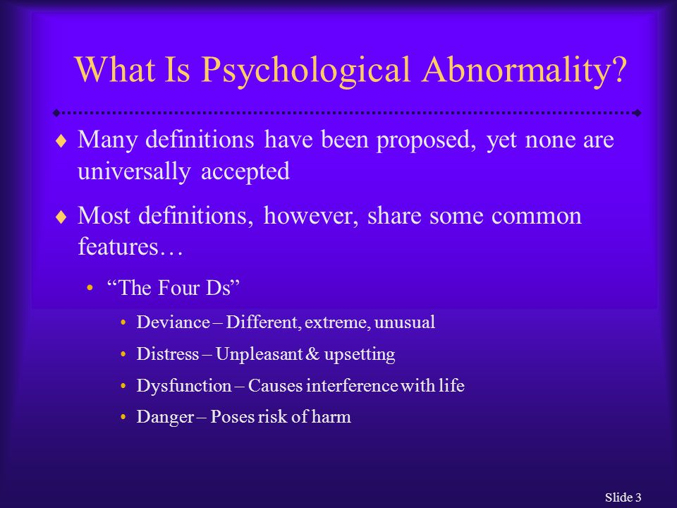 What Is Psychological Abnormality