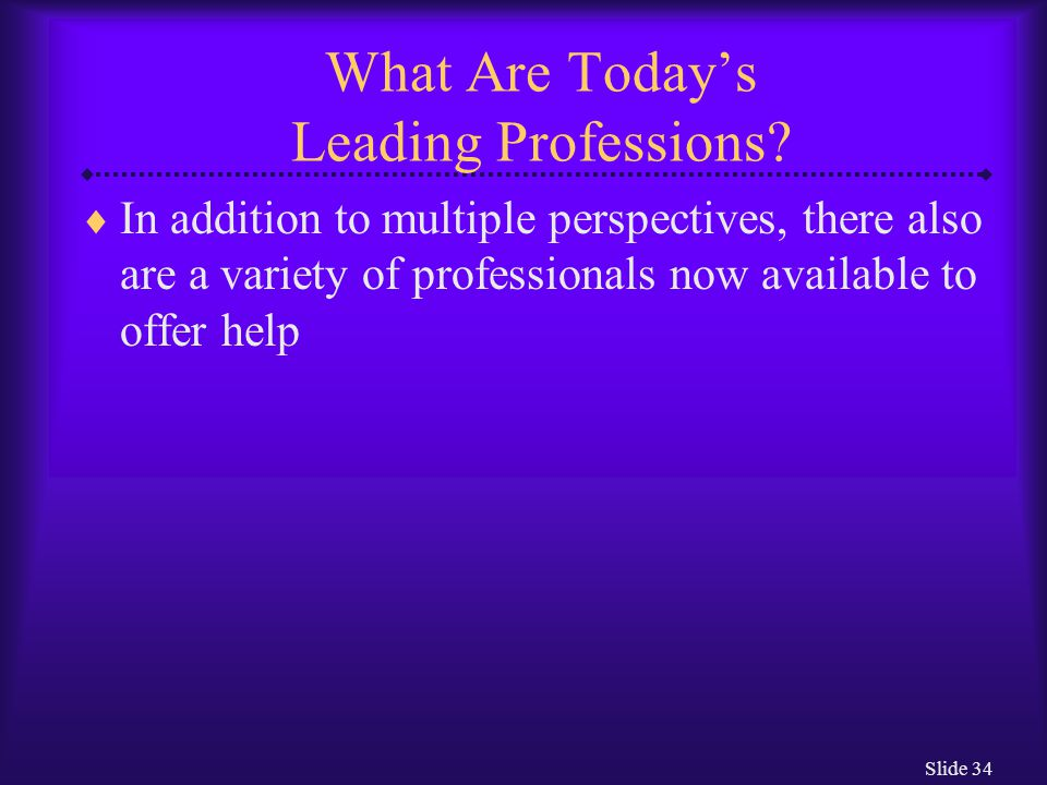 What Are Today's Leading Professions