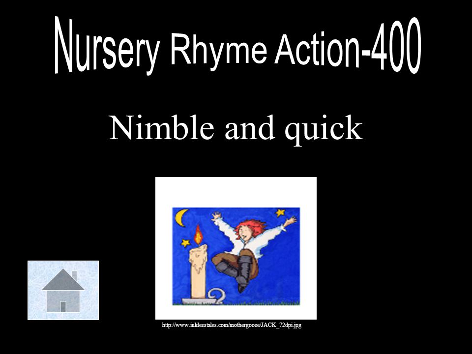 Nimble and quick Nursery Rhyme Action-400