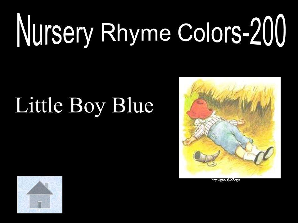 Nursery Rhyme Colors-200 Little Boy Blue http://goo.gl/oZegA