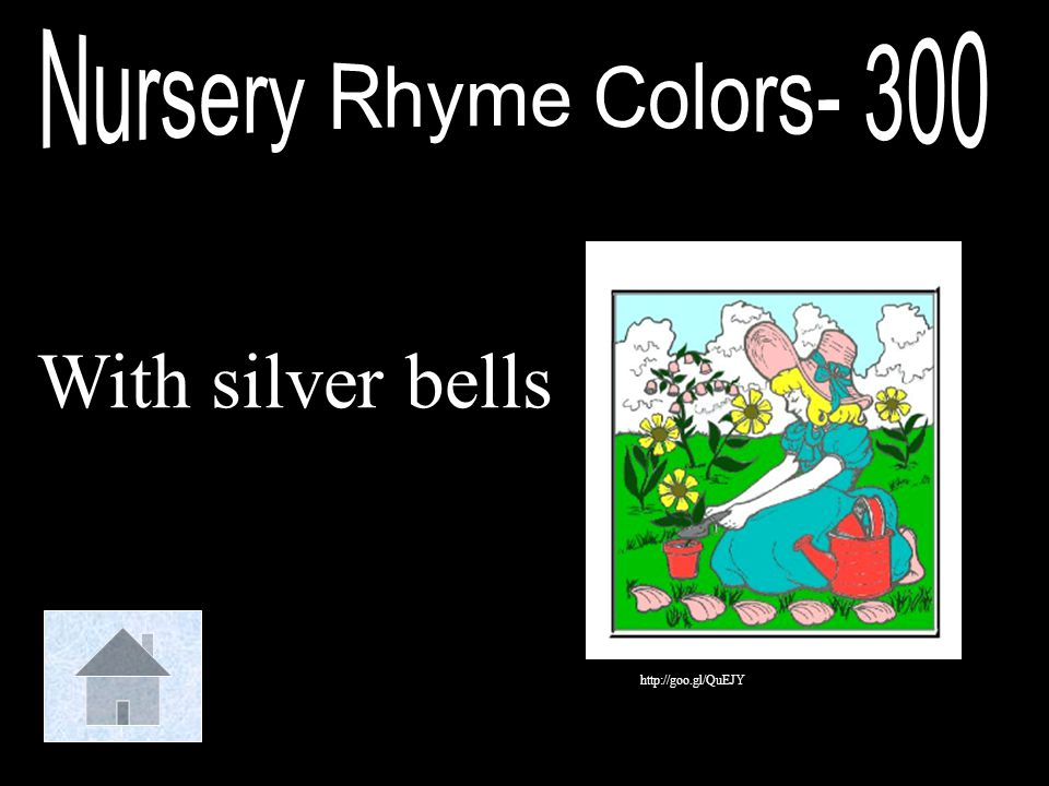 Nursery Rhyme Colors- 300 With silver bells http://goo.gl/QuEJY