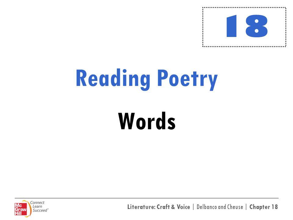 18 Reading Poetry Words