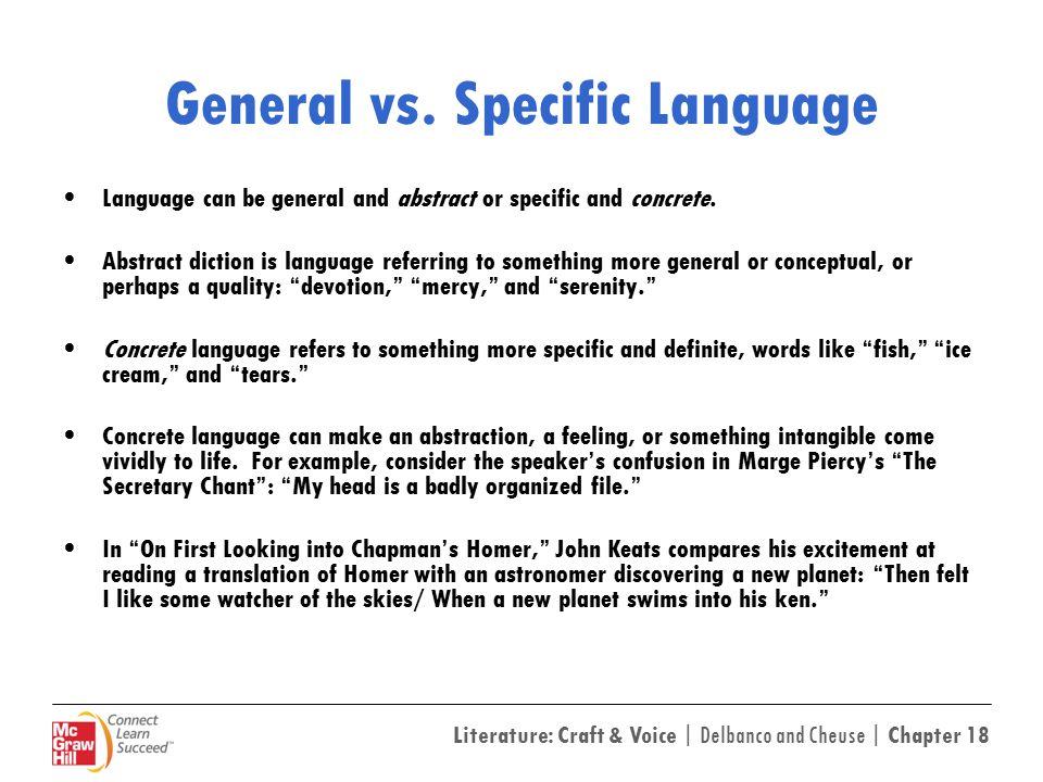 General vs. Specific Language