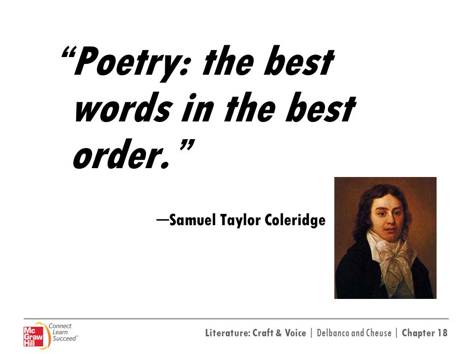 Poetry: the best words in the best order.